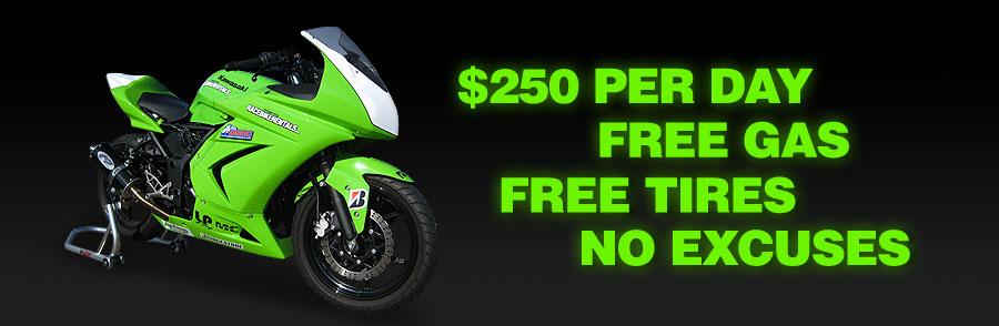 Racebikerentalscom Kawasaki Ninja 250r 250 Race Racebike Trackday